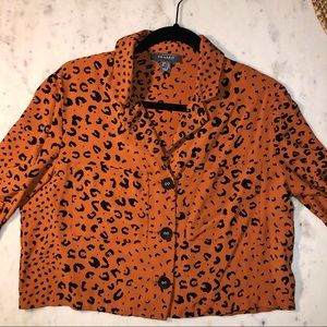 Primark Leopard Blouse cropped size 10 (US)